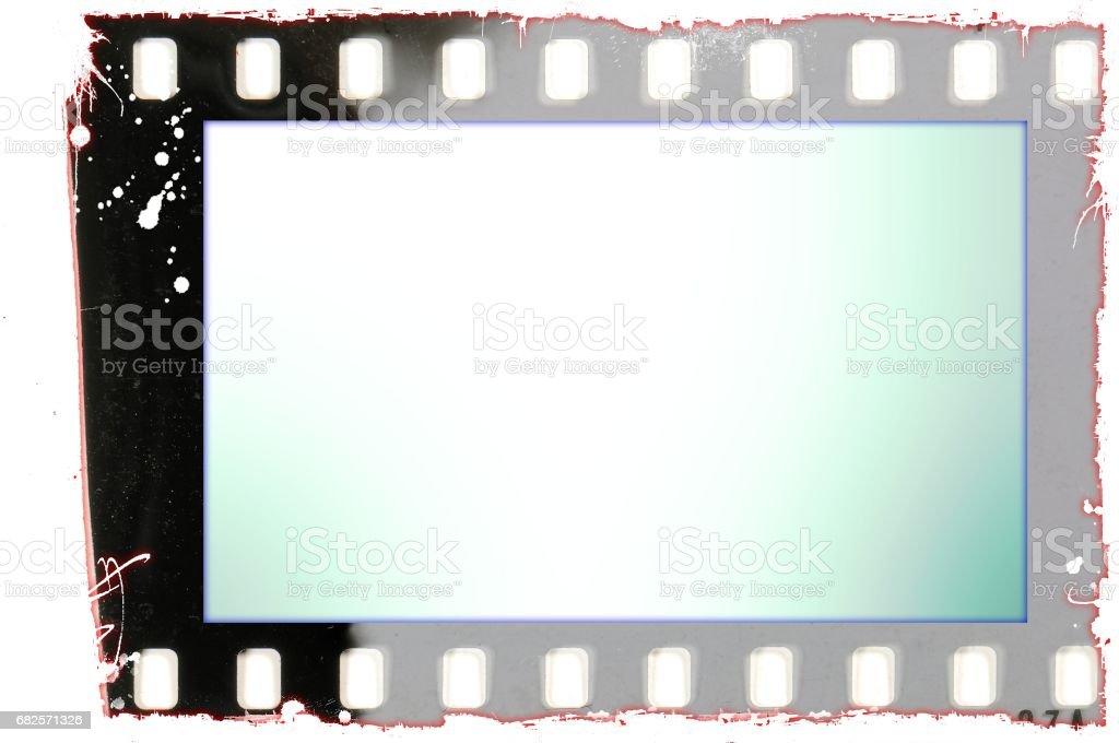Grunge Film Strip Frame Isolated On White Stock Photo & More ...