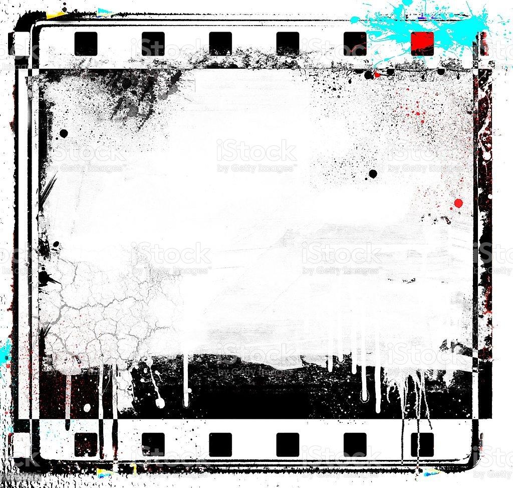 Foto de Tira De Filme Grunge Com Quadro Slide Fronteiras e mais