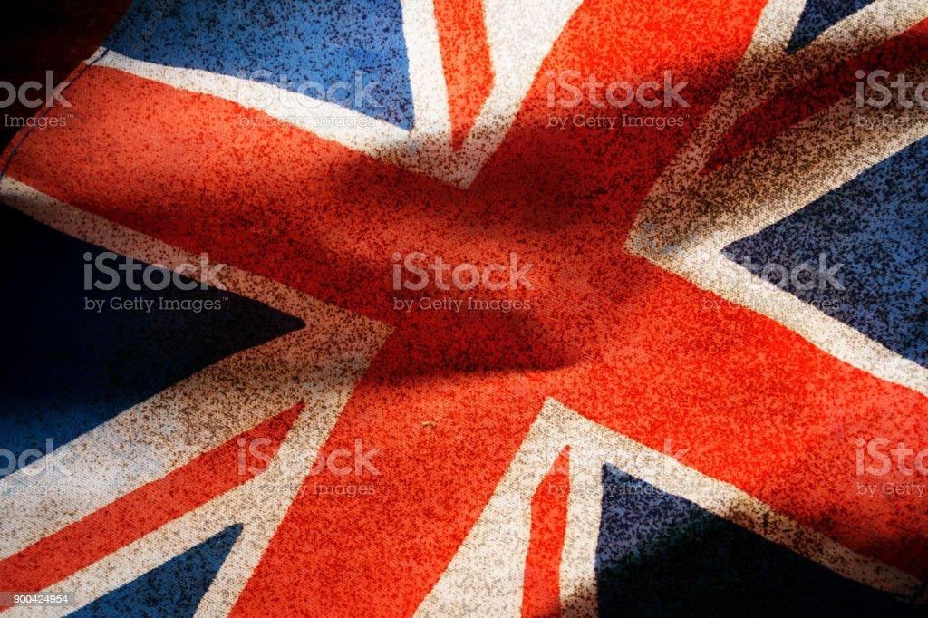 Grunge filtered,United Kingdom flag. stock photo