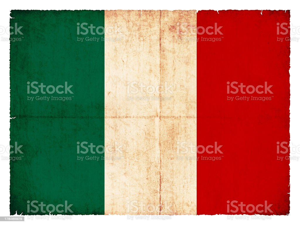 Grunge flag Italy royalty-free stock photo