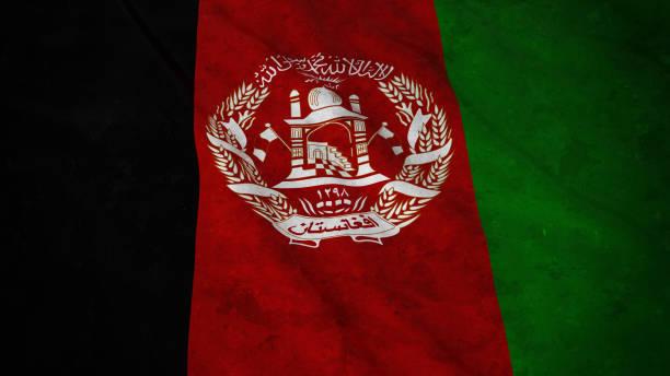 Grunge Flag of Afghanistan - Dirty Afghan Flag 3D Illustration stock photo