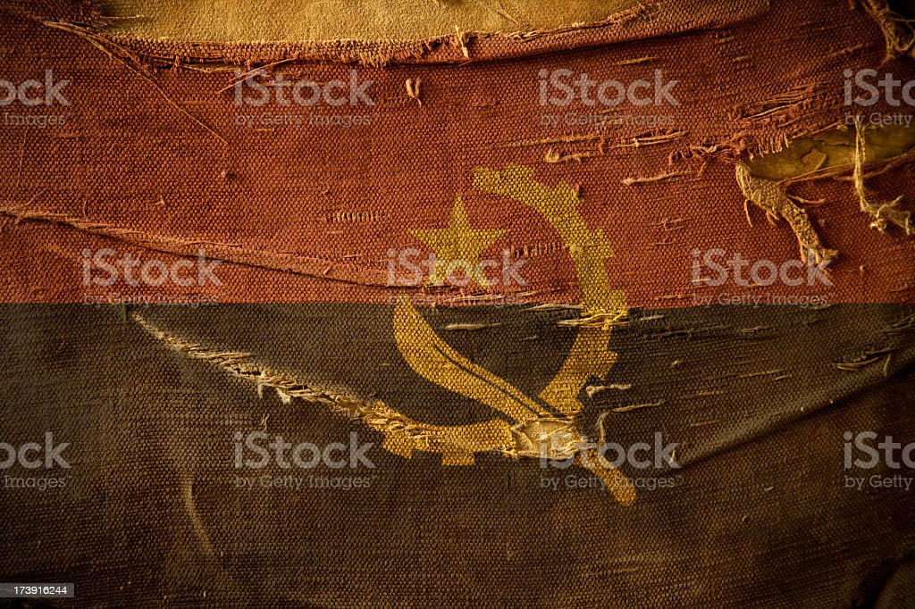 Grunge Flag of Angola royalty-free stock photo