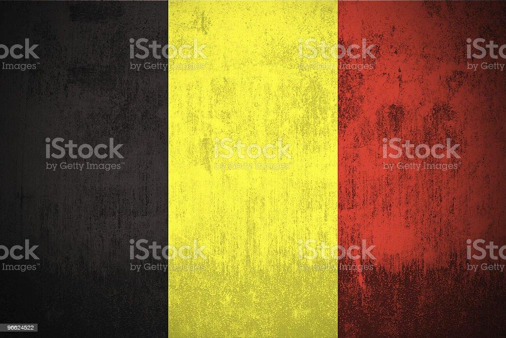 Drapeau de Grunge de Belgique - Photo