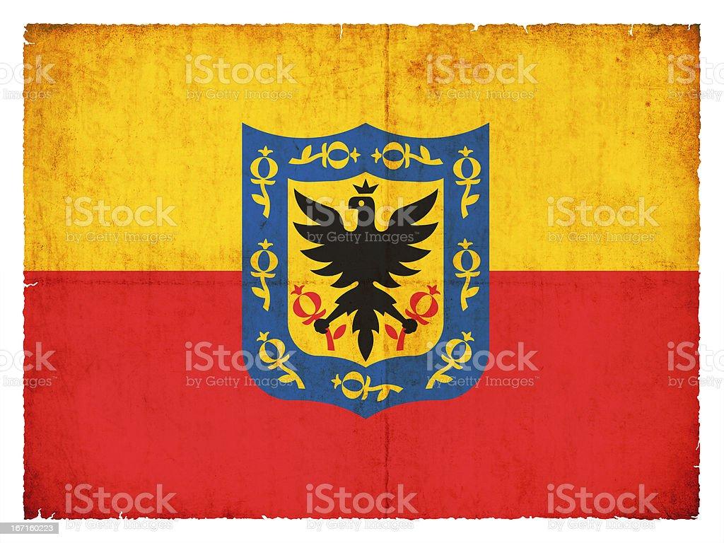 Grunge flag of Bogota (Columbia) royalty-free stock photo