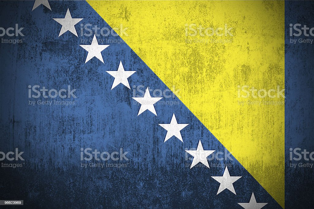 Grunge Flag Of Bosnia and Herzegovina royalty-free stock photo