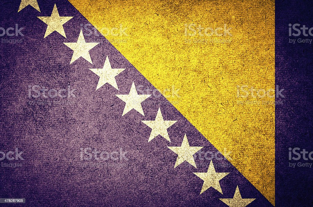 Grunge flag of Bosnia royalty-free stock photo