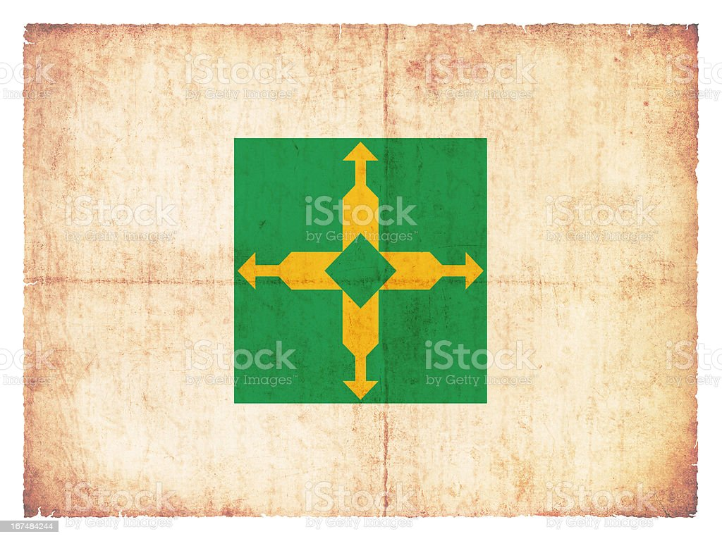 Grunge flag of Brasilia (Brazil) royalty-free stock photo