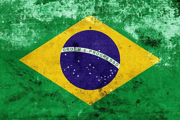 grunge bandeira do brasil - ronaldo imagens e fotografias de stock