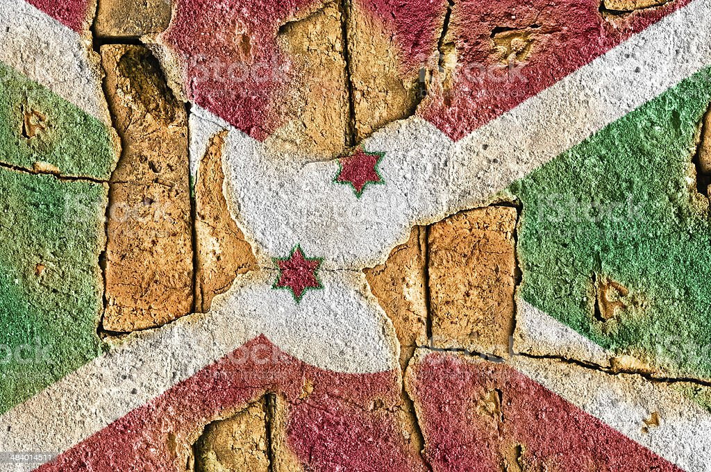 Grunge Flag of Burundi stock photo