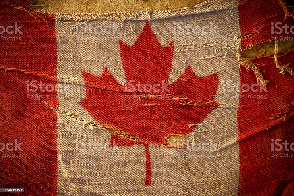 Grunge Flag of Canada royalty-free stock photo