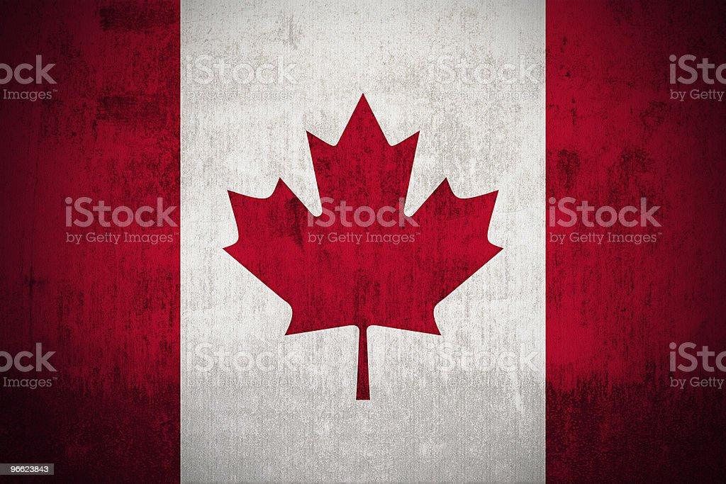 Grunge Flag Of Canada royalty-free stock photo