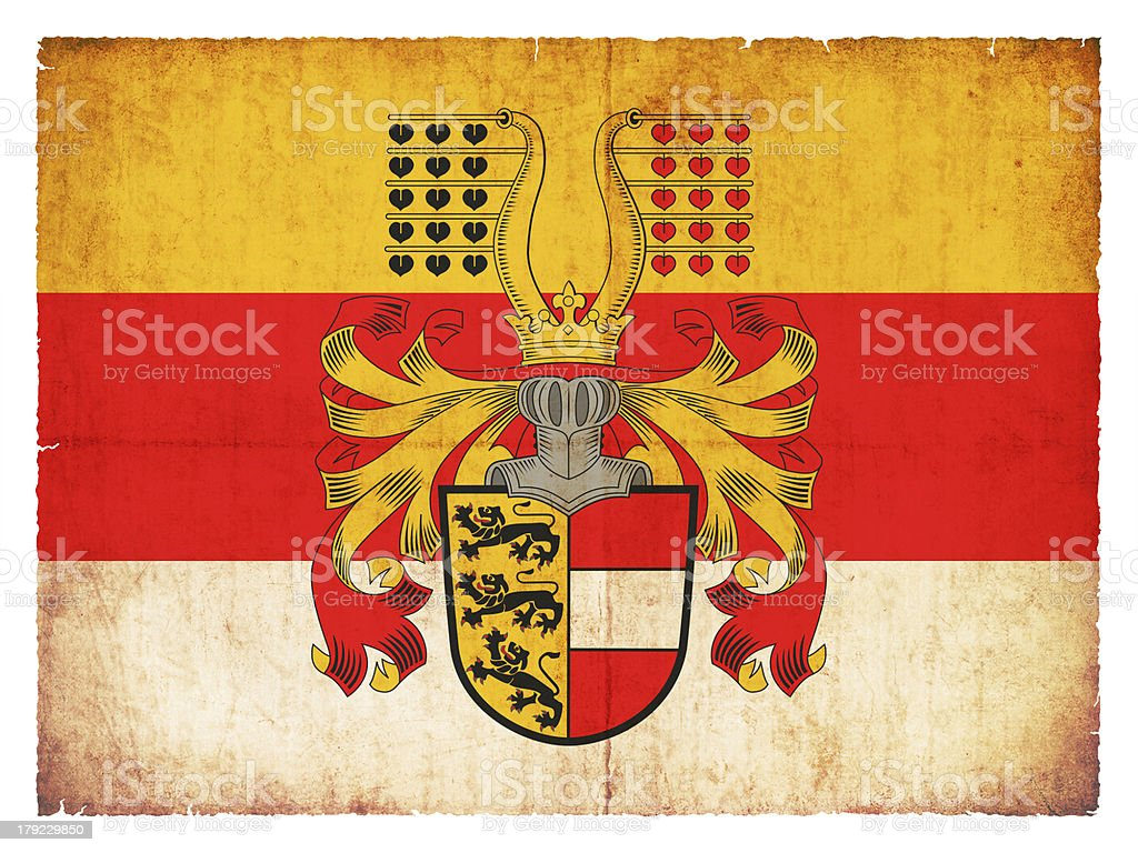 Grunge flag of Carinthia (Austria) royalty-free stock photo