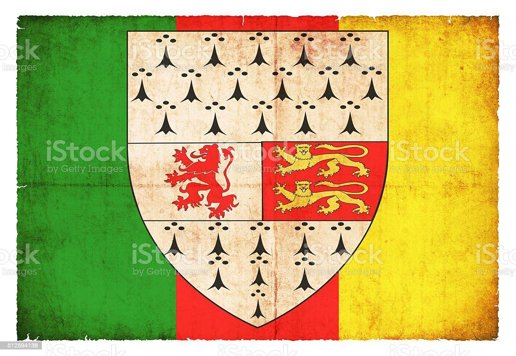 Grunge flag of Carlow (Ireland) stock photo