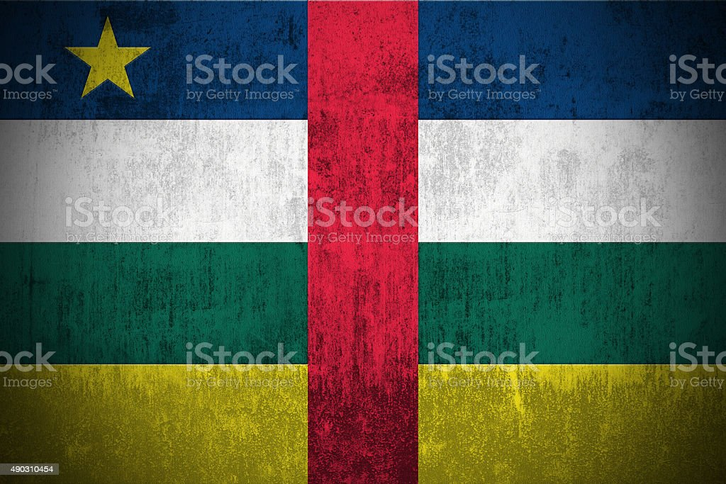 Grunge Flag Of Central African Republic stock photo