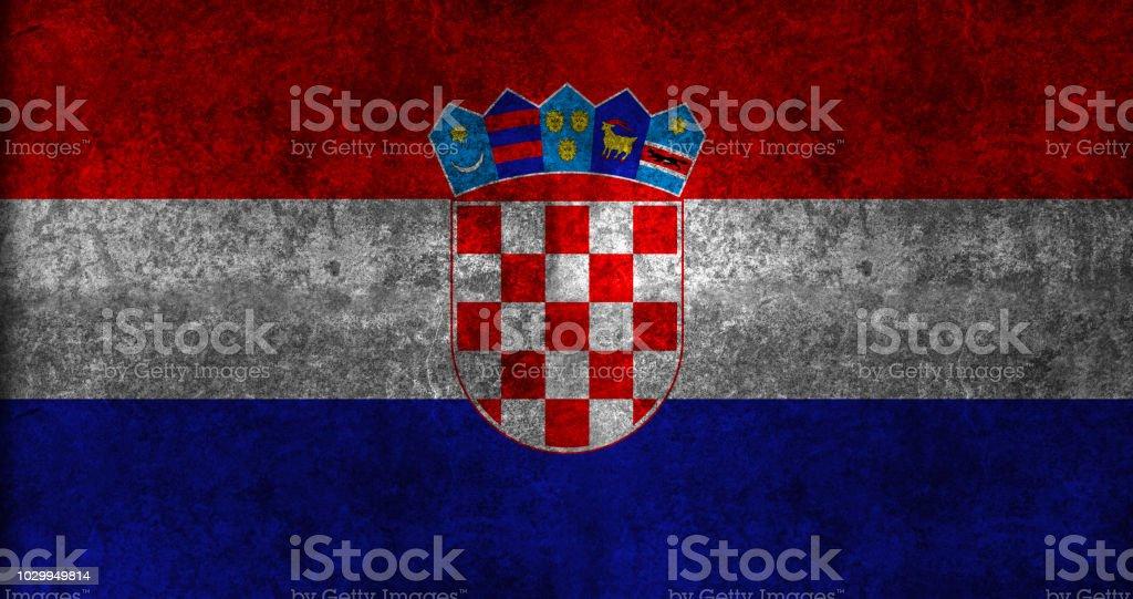 Bandeira de Grunge da Croácia - foto de acervo