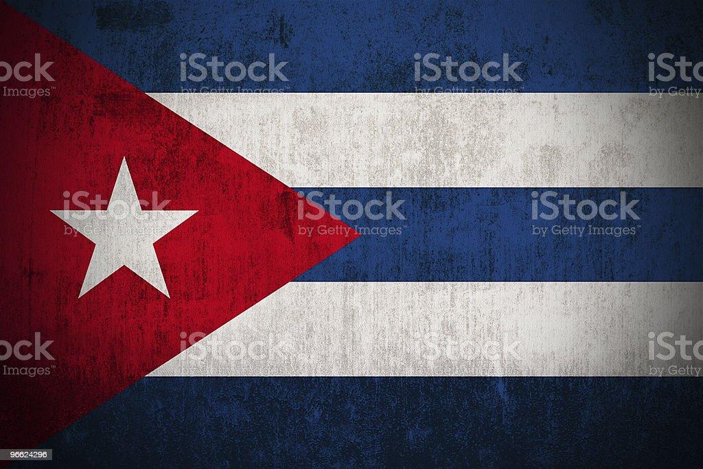 Grunge Flag Of Cuba royalty-free stock photo