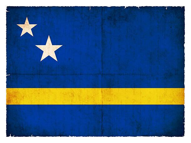 Grunge Flagge von Curaçao (Niederlande) – Foto
