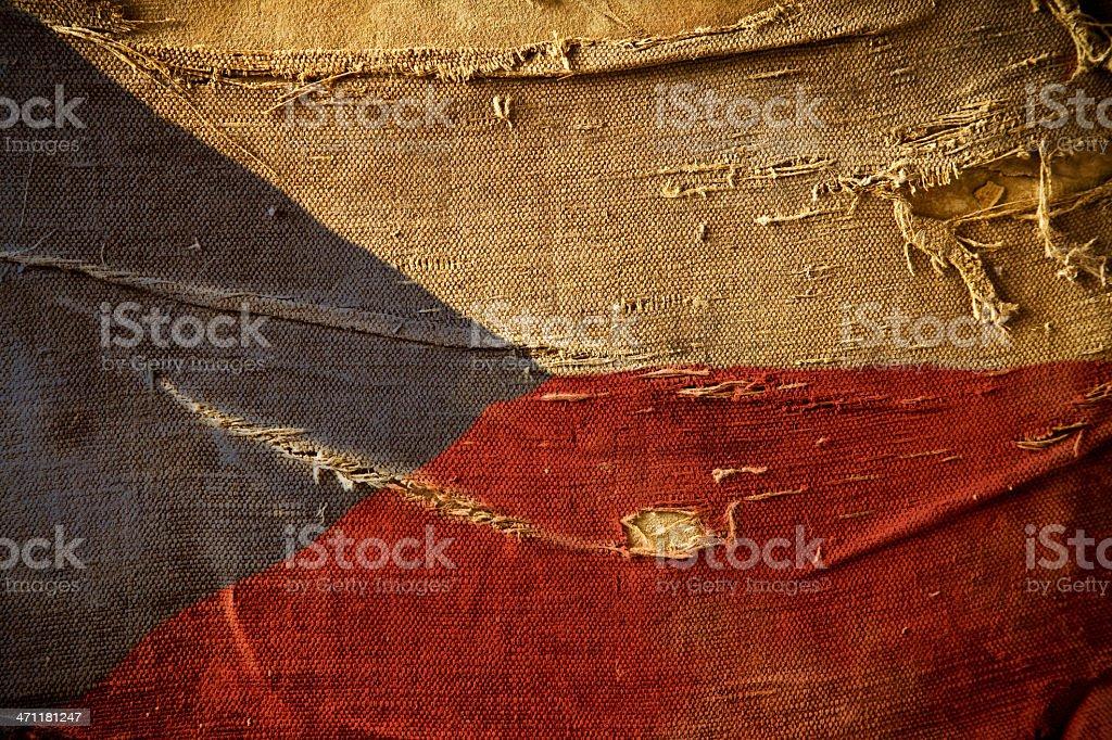 Bandera de Grunge de República Checa - foto de stock