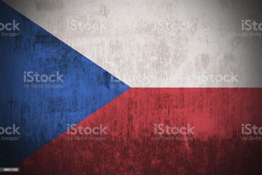 Grunge Flag Of Czech Republic royalty-free stock photo