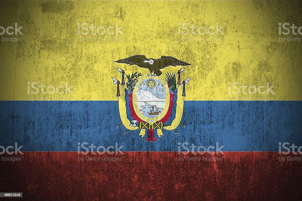 Bandera de Grunge de Ecuador - foto de stock