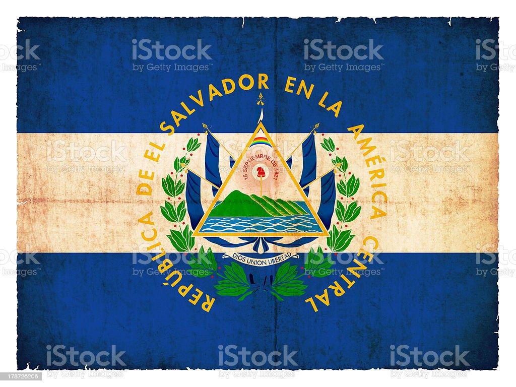 Grunge flag of El Salvador royalty-free stock photo