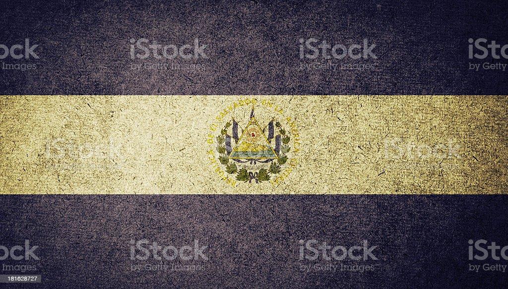 Grunge de bandera de El Salvador - foto de stock