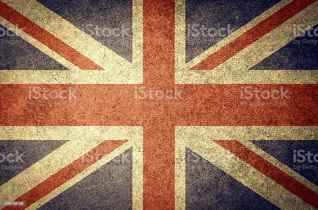 grunge flag of England royalty-free stock photo