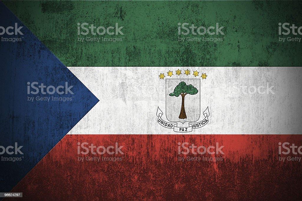 Grunge Flag Of Equatorial Guinea stock photo
