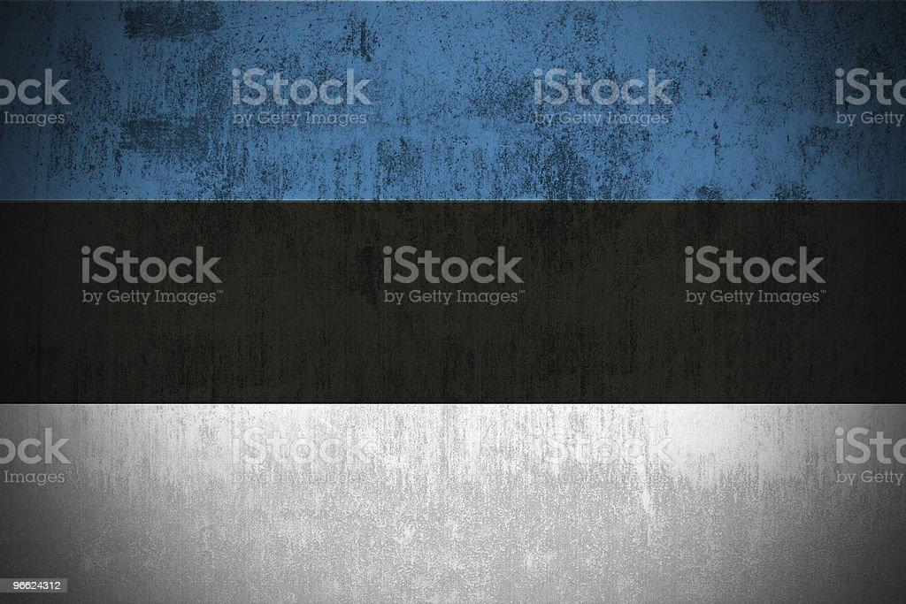 Grunge Flag Of Estonia stock photo