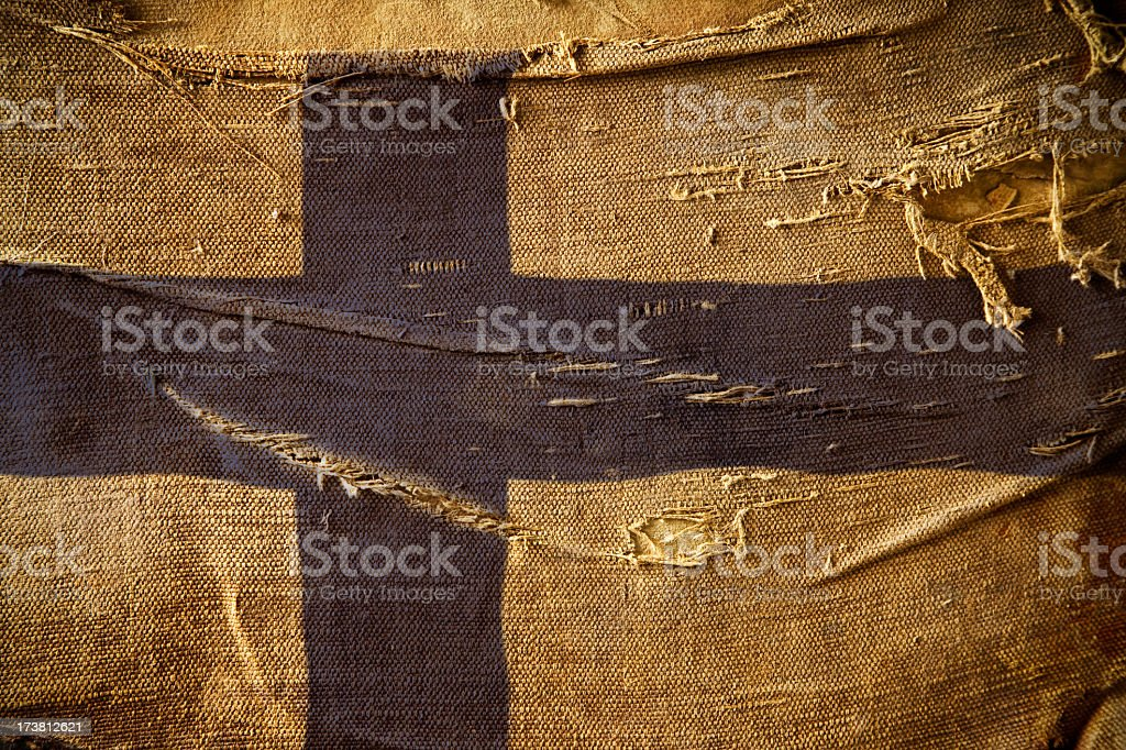 Grunge Flag of Finland royalty-free stock photo