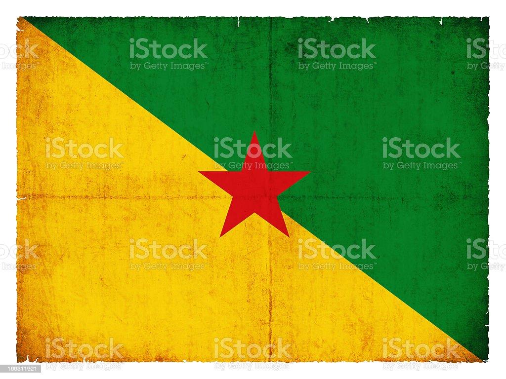 Grunge flag of French Guiana royalty-free stock photo