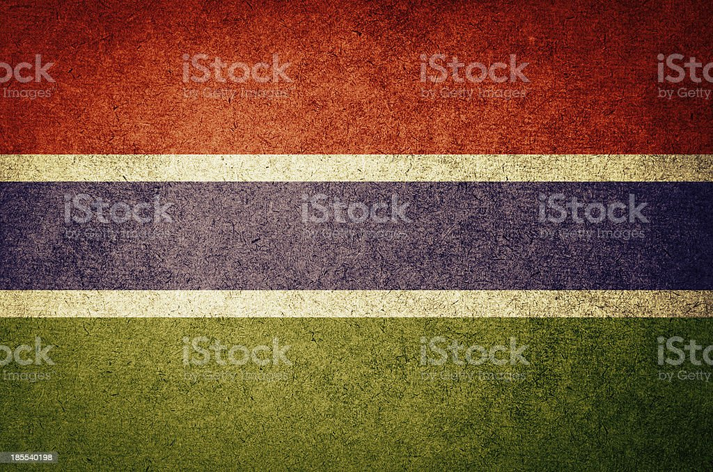 Grunge Flag of gambia royalty-free stock photo