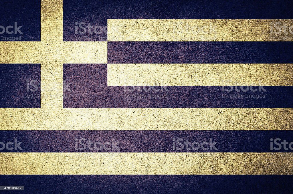 Grunge Flag of Greece stock photo