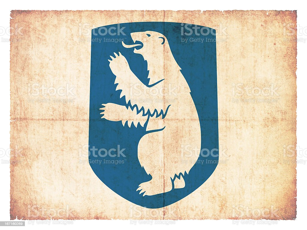 Grunge flag of Greenland (Denmark) royalty-free stock photo