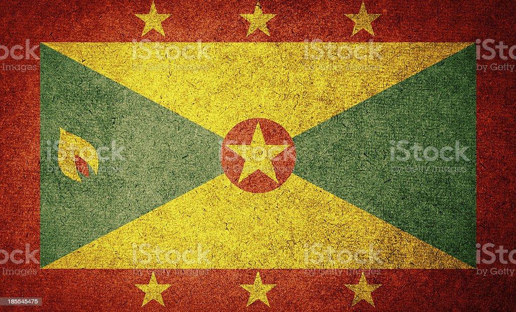 Grunge Flag of Grenada royalty-free stock photo