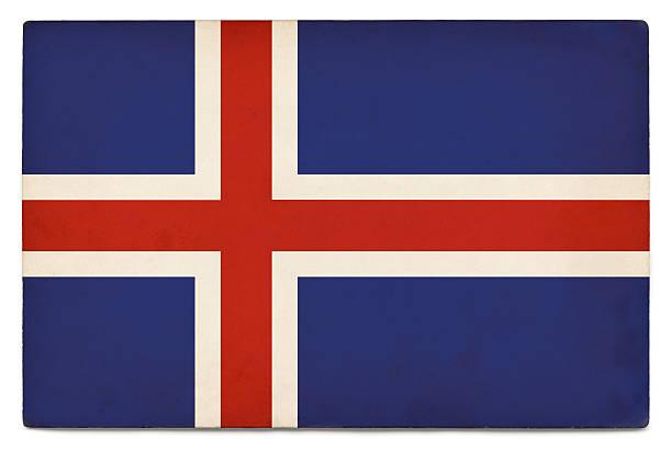 Bandeira de Grunge em branco da Islândia - foto de acervo