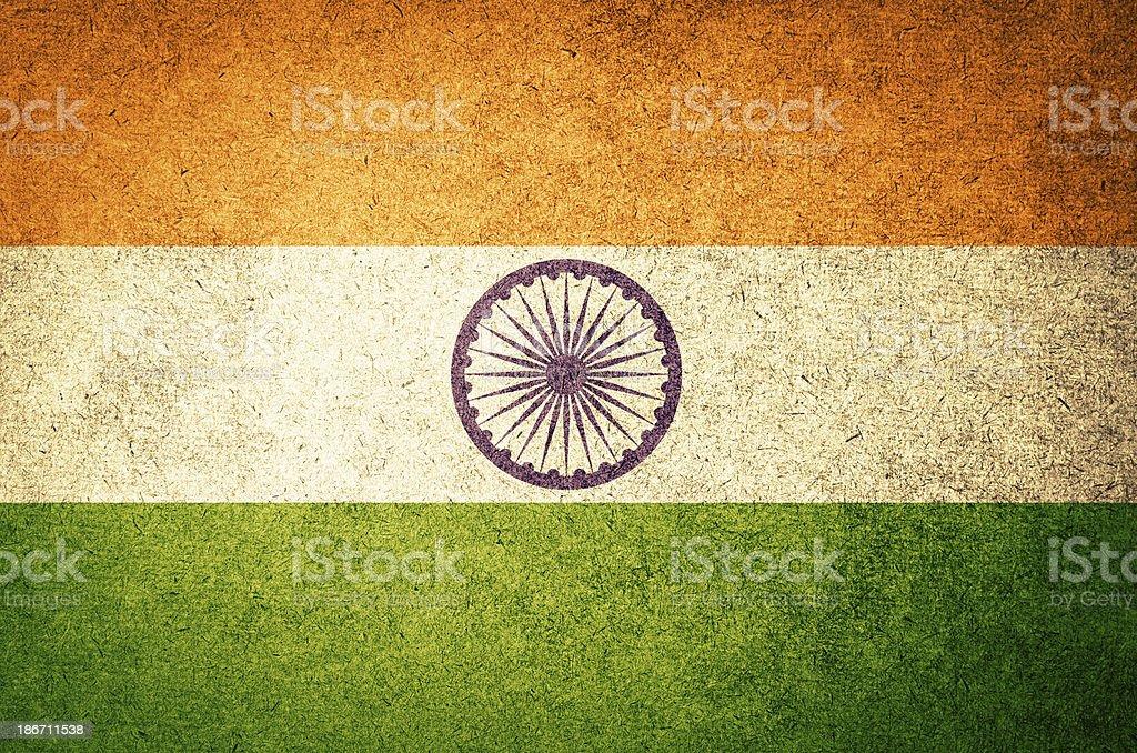 Bandeira de Grunge da Índia - foto de acervo