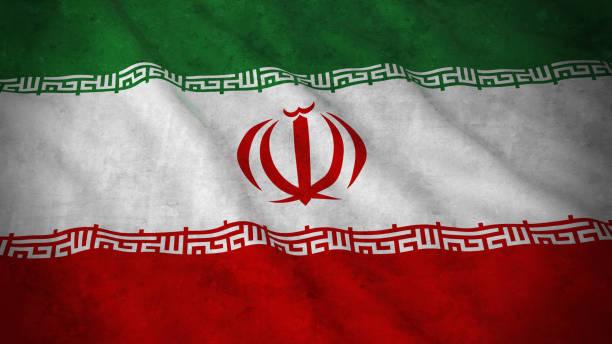 grunge-flagge iran - iranische änderungsflag 3d illustration - iranische stock-fotos und bilder