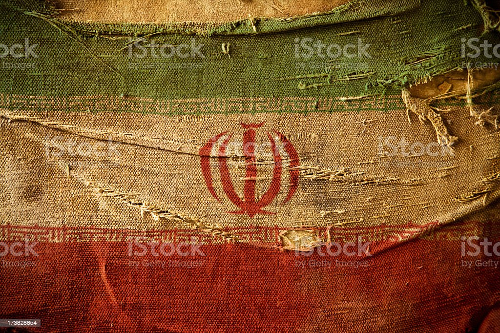 Grunge Flag of Iran stock photo