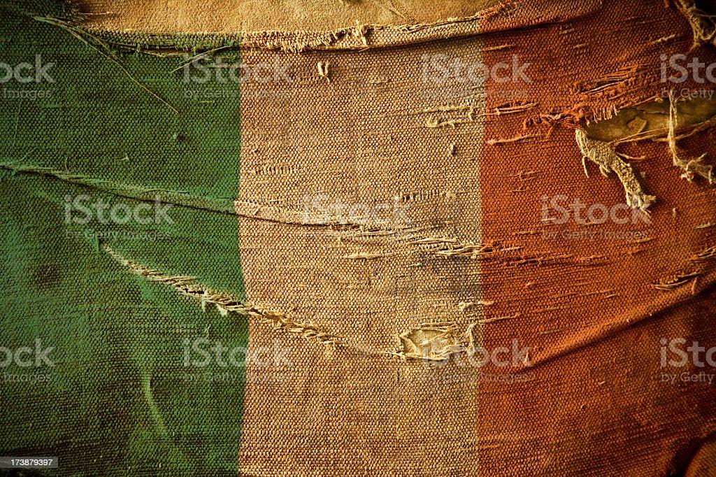 Grunge Flag of Ireland stock photo