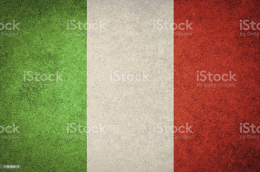 grunge flag of Italy stock photo