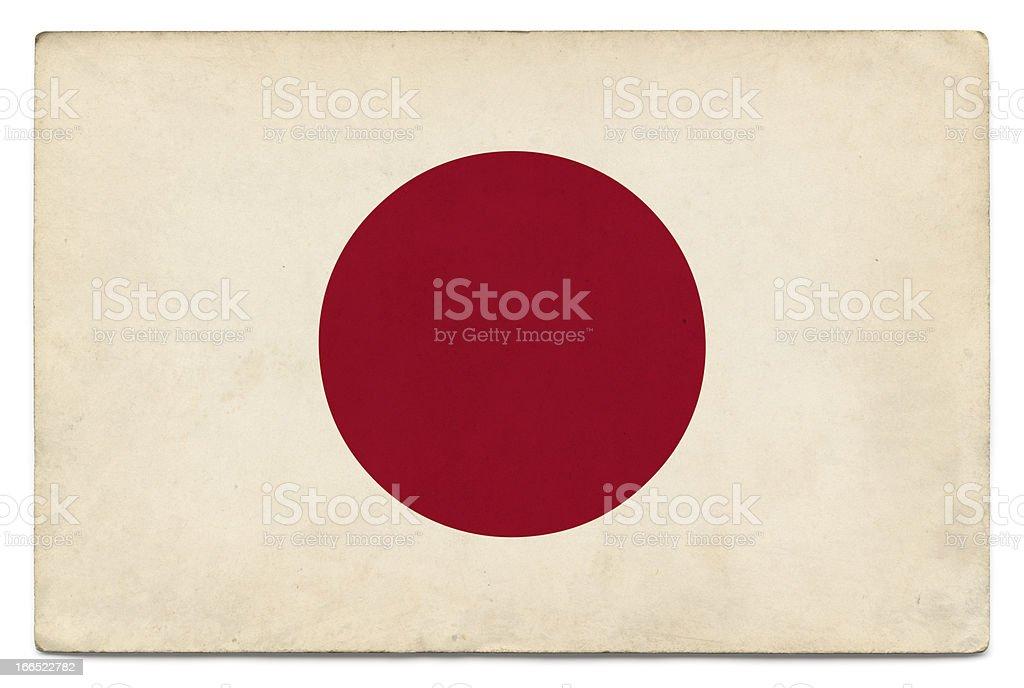 Grunge de bandera de Japón en blanco - foto de stock