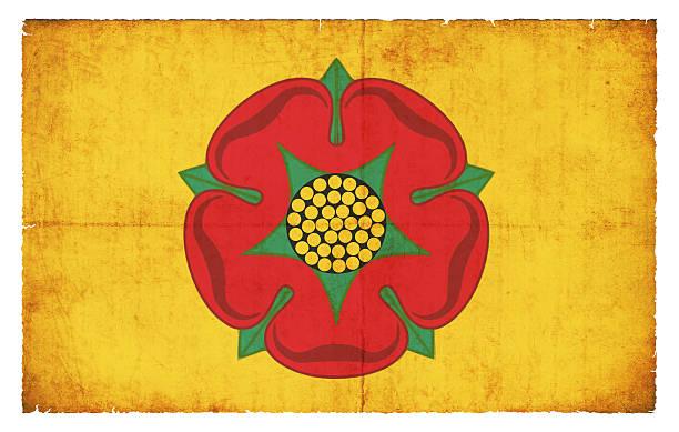 Grunge Flagge von Lancashire (Großbritannien) – Foto