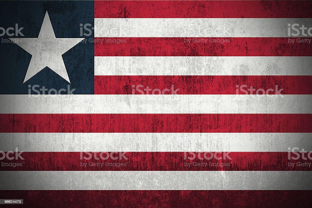 Grunge Flag Of Liberia royalty-free stock photo