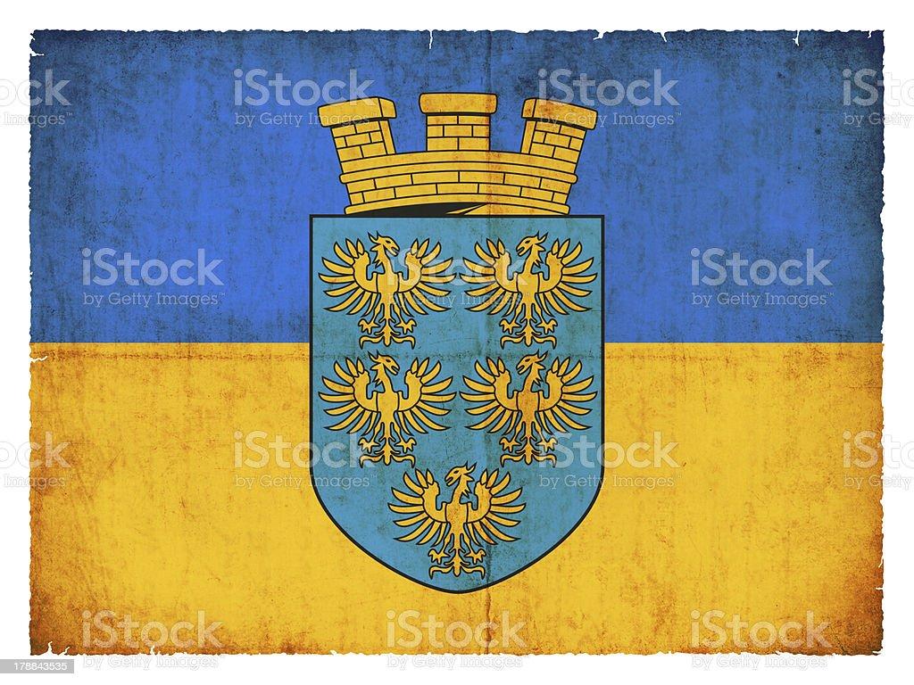 Grunge flag of Lower Austria (Austria) stock photo