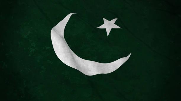 grunge flag of pakistan - dirty pakistani flag 3d illustration - pakistani flag stock photos and pictures