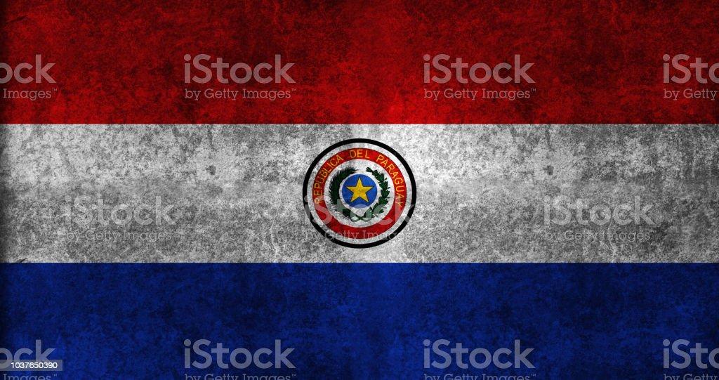 Bandera de Grunge de Paraguay - foto de stock