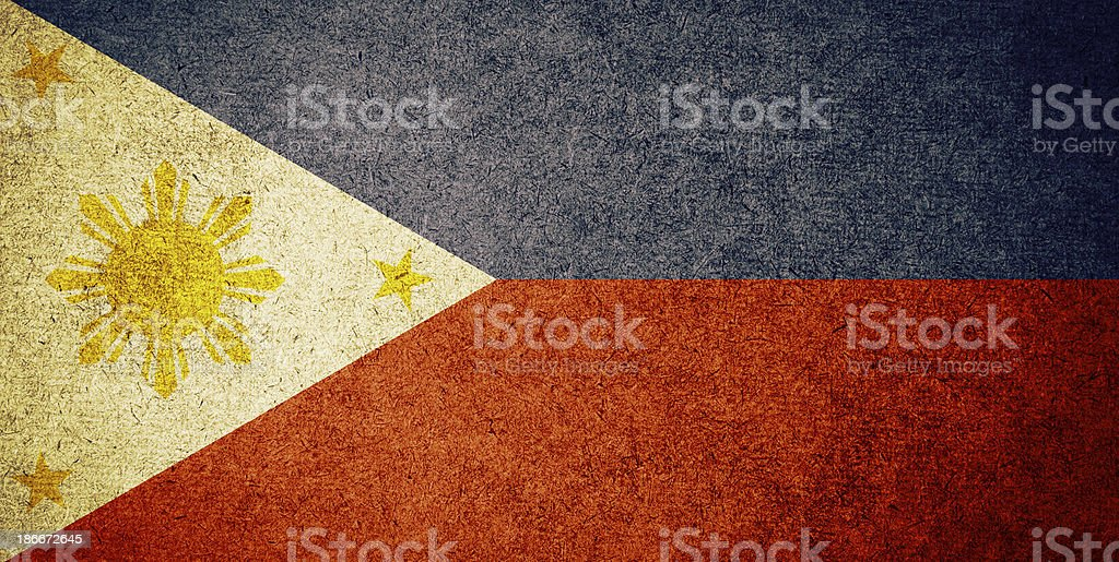 Grunge Flag of Philippines stock photo