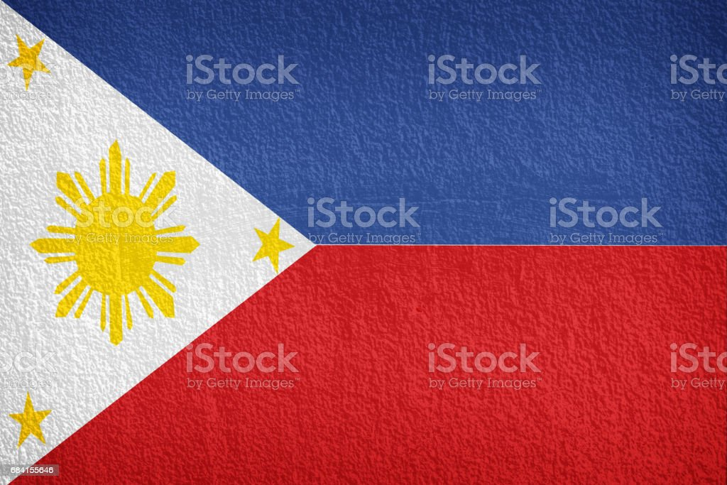Grunge flag of Philippines royalty-free stock photo