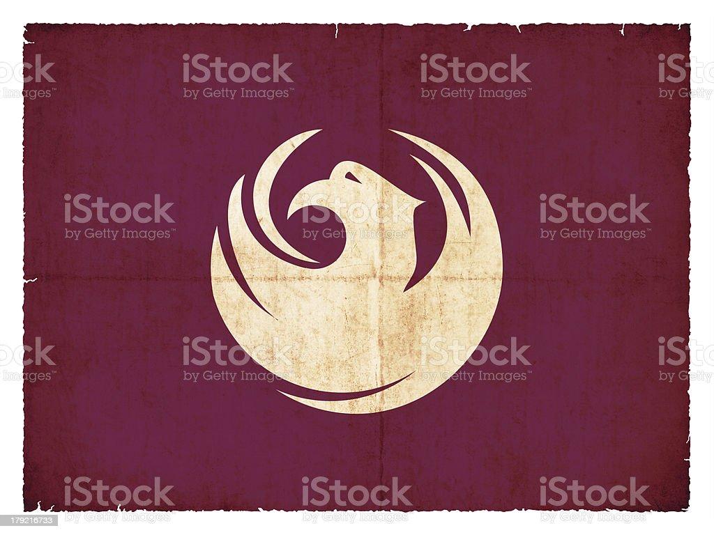 Grunge flag of Phoenix/Arizona (USA) royalty-free stock photo